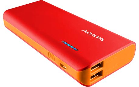 Power Bank ADATA PT100 10000mAh červená/oranžová (APT100-10000M-5V-CRDOR)