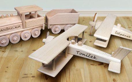 Dřevěné hračky s vlastním gravírem nejen pro děti