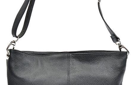 Černá kožená kabelka Luisa Vannini Gratia