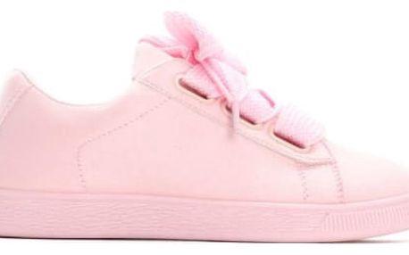 Dámské světle růžové tenisky Karen 8277