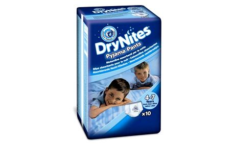 Huggies Dry Nites Medium - Boys 17-30 kg, 10 ks