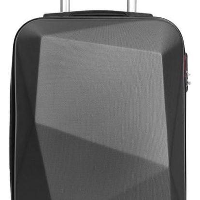 Šedý cestovní kufr na kolečkách Hero Diamond