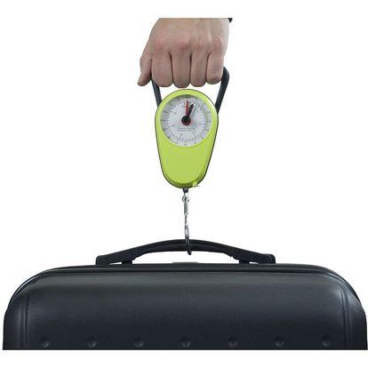 Zelená váha pro zvážení kufru Bluestar