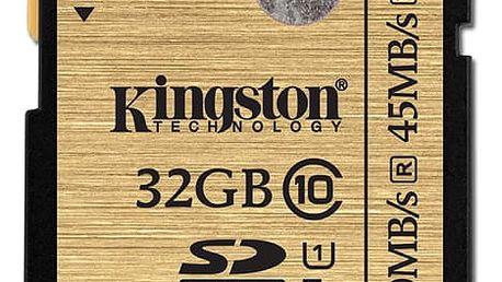 Paměťová karta Kingston SDHC 32GB UHS-I U1 (90R/45W) (SDA10/32GB)