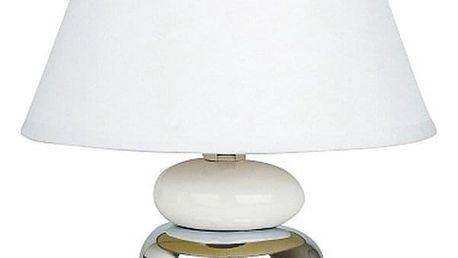 Stolní lampa Salem, bílo-stříbrná, Rabalux 4949