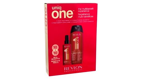 Revlon Professional Uniq One dárková kazeta pro ženy bezoplachová maska na vlasy 150 ml + šampon 300 ml