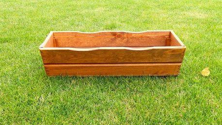 Tradgard 2687 Zahradní květináč truhlík 64 cm hnědý