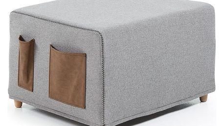 Šedá rozkládací postel La Forma Kos, 70x180cm