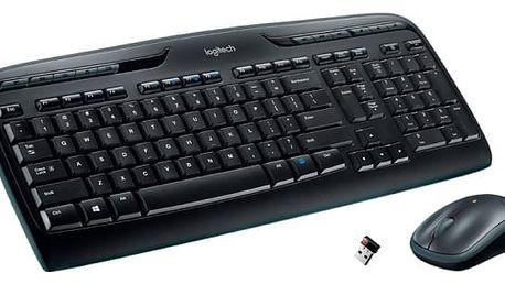 Klávesnice s myší Logitech Wireless Combo MK330, US černá (920-003999)