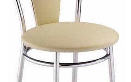 Kovová židle Tulipan Plus slonová kost
