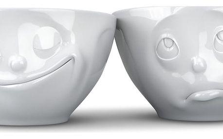 Sada 2 bílých šťastných misek 58products