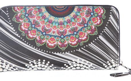 Peněženka velká ornament, květiny a mandaly s kapsičkou