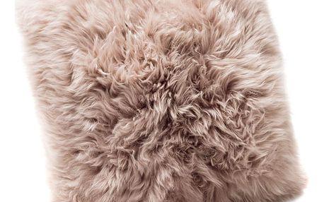 Světle hnědý polštář z ovčí kožešiny Royal Dream Sheepskin,45x45cm