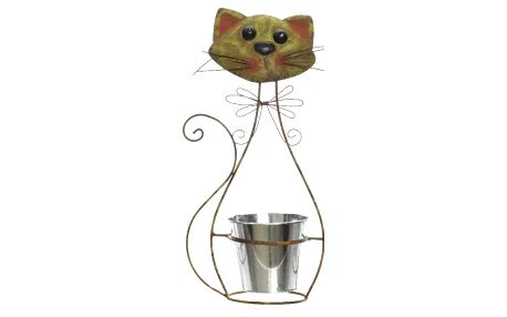 Zinkový květináč Kotě, 42 cm