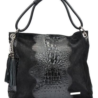 Černá kožená kabelka Luisa Vannini Marita