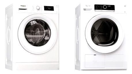 Set (Automatická pračka Whirlpool FWG81284W EU) + (Sušička prádla Whirlpool HSCX 80410)