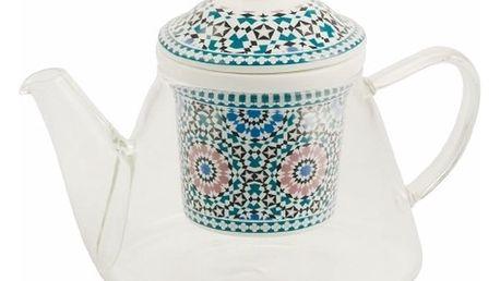 Konvička s porcelánovým sítkem na sypaný čaj Villa d'Este Bisanzio