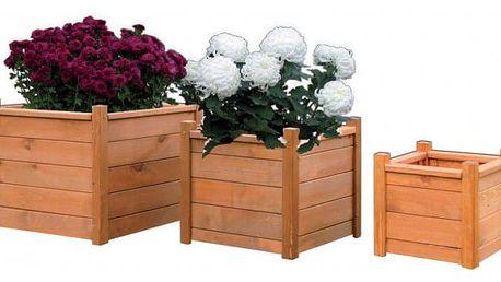 Tradgard 6939 Dřevěný dekorativní květináč 30 x 30 cm