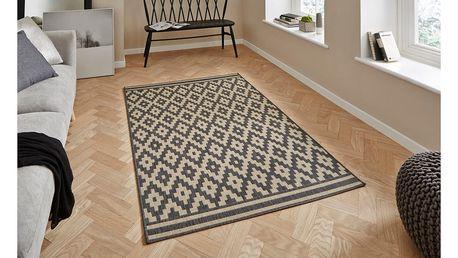 Pískovoantracitový koberec Think Rugs Cottage, 160x220cm