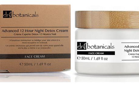 Noční hydratační pleťový krém Dr.Botanicals Advanced 12 Hour Night Detox, 50ml