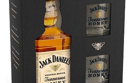 Jack Daniels Honey 0,7l 35% + 2x sklo dárkové balení