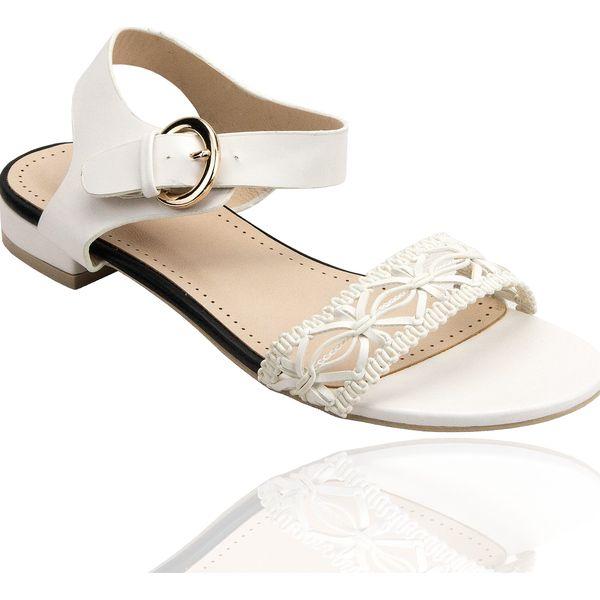 Dámské sandálky Balada s krajkovým motivem