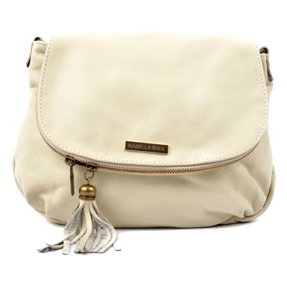 Světle béžová kožená kabelka Isabella Rhea Dunia