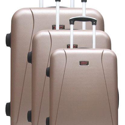 Sada 3 světle hnědých cestovních kufrů na kolečkách Hero Jackson