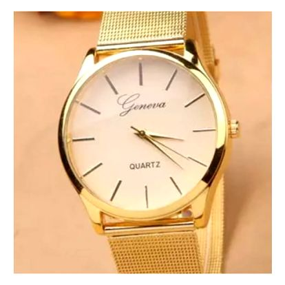 Elegantní dámské hodinky v decentním provedení - zlatá barva - dodání do 2 dnů