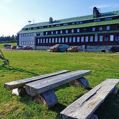 Centrální Krkonoše tradičně v horské chatě se saunou a polopenzí + v letních měsících i půjčením kol