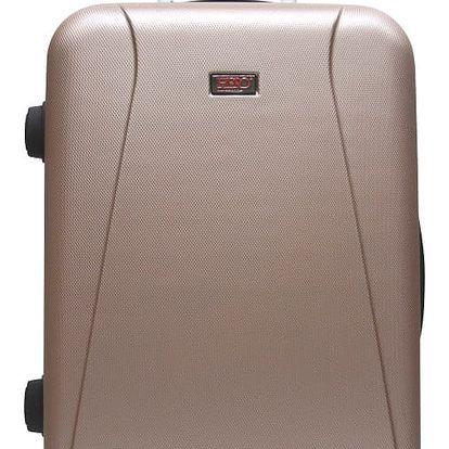 Hnědý cestovní kufr na kolečkách Hero Tour, 61 l