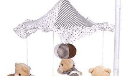 CANPOL Babies Kolotoč plyšový béžoví medvídci