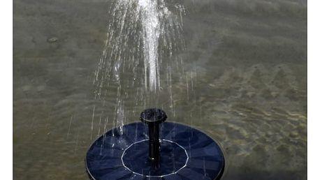 Plovoucí solární fontána na zahradu