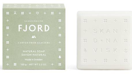 SKANDINAVISK Tuhé mýdlo FJORD 100 g, zelená barva, papír