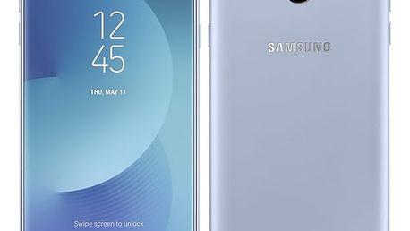 Mobilní telefon Samsung Galaxy J7 2017 (J730F) stříbrný + dárek (SM-J730FZSDETL)