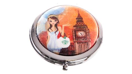 Kapesní kosmetické zrcátko Girls Big Ben oranžový