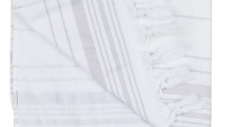Bílá hammam osuška Walra, 100x180cm