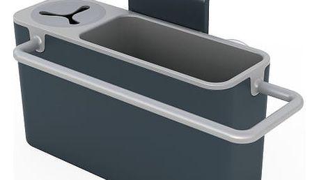 Šedý stojánek na mycí prostředky Joseph Joseph Sink Aid