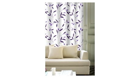 Forbyt Závěs Leaf fialová 150 x 245 cm