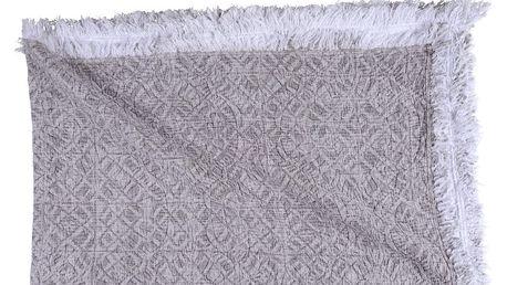 Šedobéžová bavlněná deka Walra Yara, 130x170cm