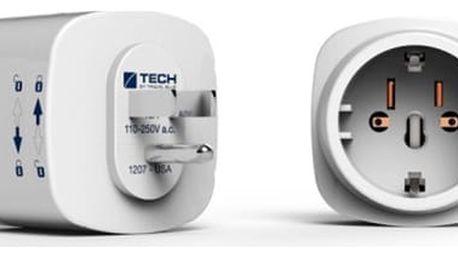 Cestovní adaptér TECH TBU-930 pro USA bílý