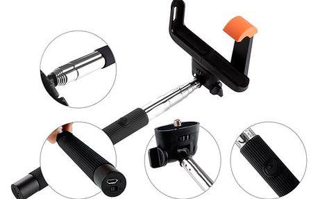Selfie tyč GoGEN 2 teleskopická, bluetooth černá (GOGBTSELFIE2B)
