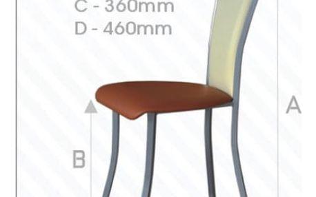 Kovová židle STRAKOŠ Pluton