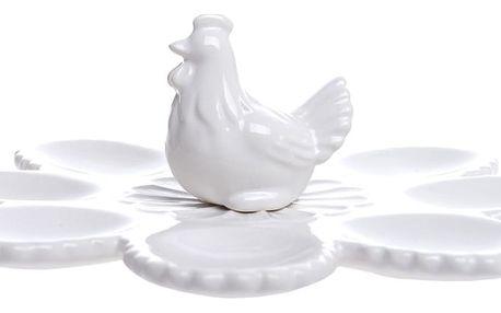 Bílý podnos na vajíčka Ewax Flower