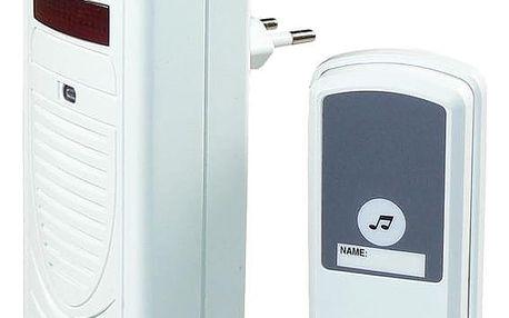 Zvonek bezdrátový EMOS 98080S, do zásuvky, 60m bílý (98080S)