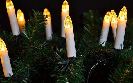 Nexos 5960 Klasické svíčky na vánoční strom - teple bílá