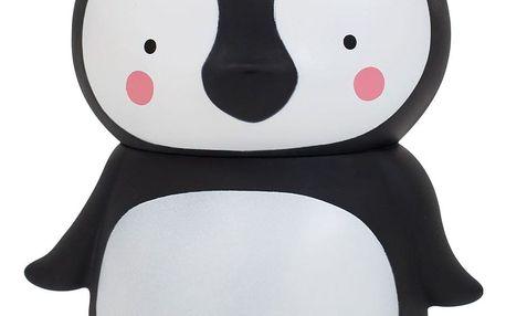 A Little Lovely Company Pokladnička Penguin, černá barva, bílá barva, plast