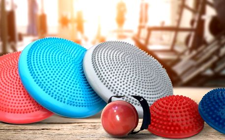 Masážní a balanční disk i další fitness pomůcky