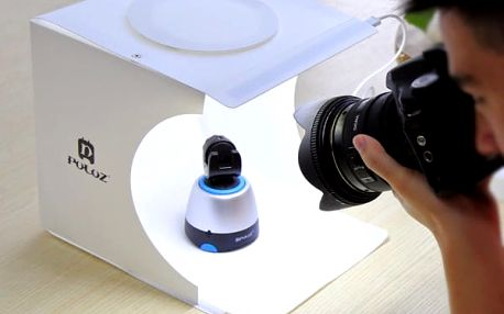Skládací box pro fotografování produktů + 6 barevných fotopozadí - dodání do 2 dnů