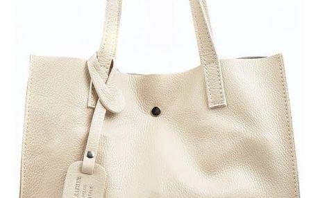 Světle béžová kožená kabelka Isabella Rhea Tote